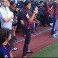 E Bruna Marquezine acompanhou a apresentação de Neymar bem de pertinho