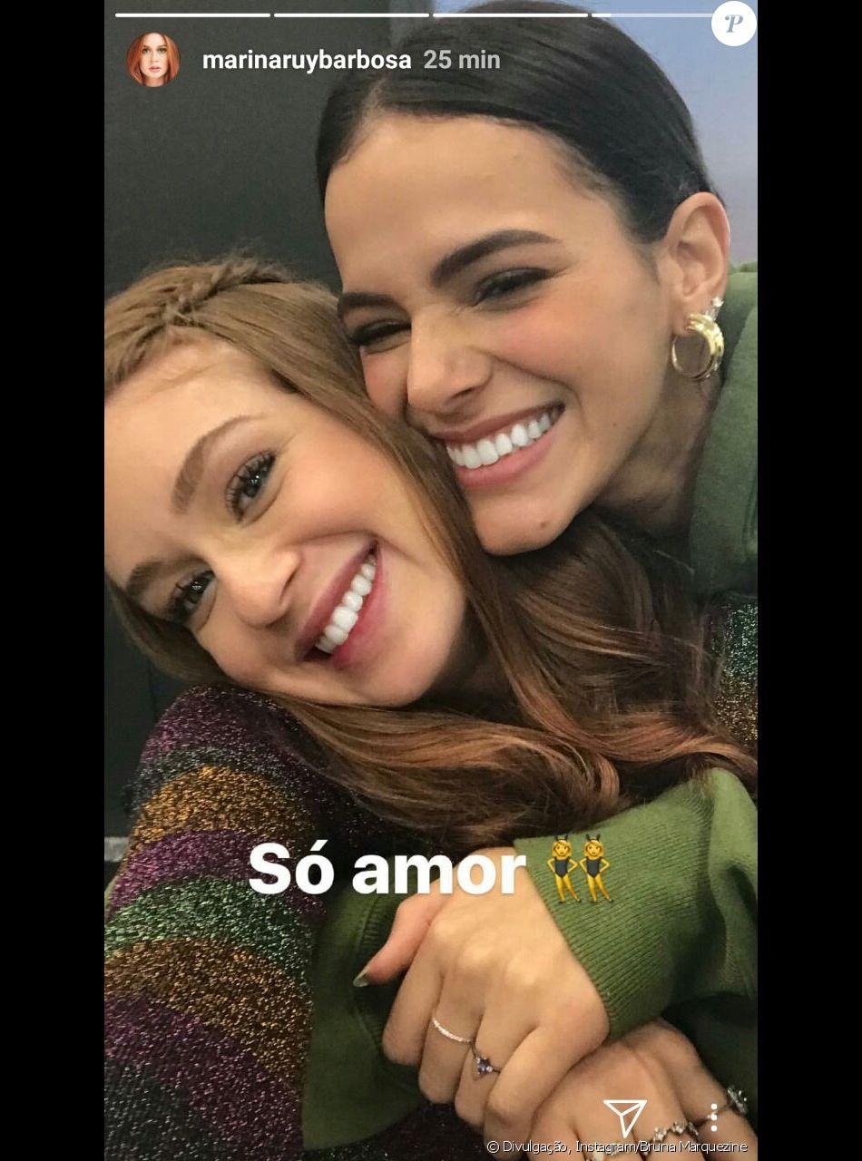 Bruna Marquezine e Marina Ruy Barbosa rejeitam briga na web entre fãs das duas nesta sexta-feira, dia 08 de dezembro de 2017