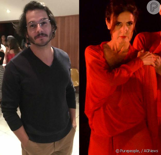 Túlio Gadêlha elogiou Fátima Bernardes, sua namorada, durante apresentação de dança no Rio de Janeiro: 'Ainda mais linda de vermelho'