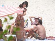 Yanna Lavigne e Bruno Gissoni levam filha, Madalena, de 6 meses, à praia. Fotos!