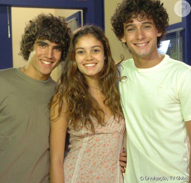 Caio Castro, Sophie Charlotte e Rafael Almeida foram os protagonistas da décima quinta temporada de 'Malhação', exibida de 2007 a 2009