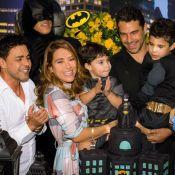 Zezé Di Camargo e Zilu se encontram em aniversário do filho de Wanessa. Foto!