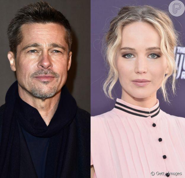 Brad Pitt e Jennifer Lawrence vêm 'passando noites em claro juntos', segundo o 'Daily Mail'