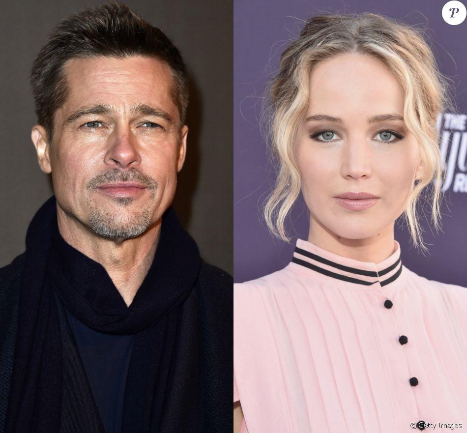 Brad Pitt e  Jennifer Lawrence  vêm 'passando noites em claro juntos', segundo o ' Daily Mail'