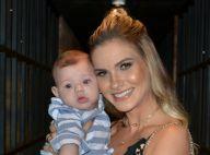 Andressa Suita leva filho, Gabriel, ao lançamento de DVD de Gusttavo Lima. Fotos