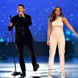 Anitta fez primeiro show em Las Vegas com Nick Jonas na festa pré-Grammy latino, nos Estados Unidos, em 15 de novembro de 2017
