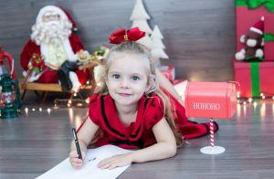 Filha de Rafael Cardoso e Mariana Bridi faz ensaio em clima de Natal. Veja fotos