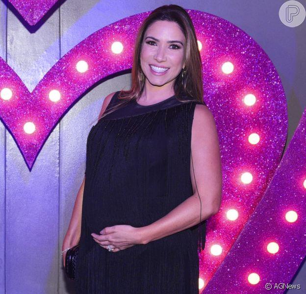 Patricia Abravanel está negociando com o marido, Fabio Faria, o nome que darão à filha
