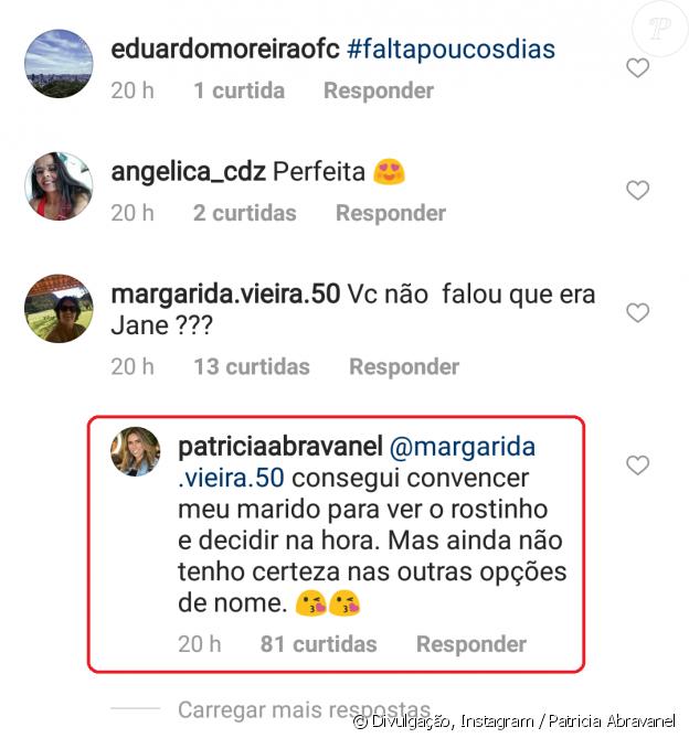 Patricia Abravanel contou que quer escolher o nome da filha após o parto