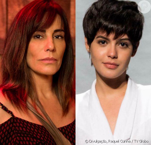 Duda (Gloria Pires) e Adriana (Julia Dalavia) se reencontram após 10 anos longe uma da outra e não se reconhecem, na novela 'O Outro Lado do Paraíso'