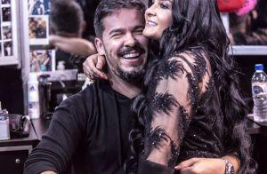 Maraisa, dupla de Maiara, posa sorridente com noivo, Wendell Vieira: 'Grudinho'