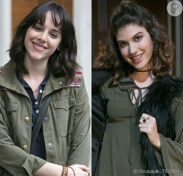 Lica (Manoela Aliperti) e Samantha (Giovanna Grigio) vão namorar em 'Malhação - Viva a Diferença'