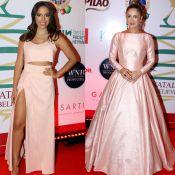 Sintonia: Anitta e Claudia Leitte apostam em look rosé em show de Natal. Fotos!