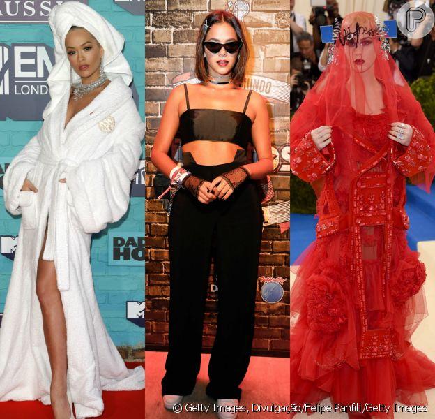 Rita Ora, Bruna Marquezine e Katy Perry protagonizaram produções marcantes em 2017. Veja mais looks!