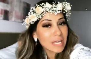 Mayra Cardi explica atraso em casamento com Arthur Aguiar: 'Ia ser na segunda!'