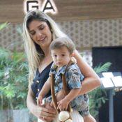 Rafa Brites leva filho, Rocco, de 10 meses, para passear em shopping. Veja fotos