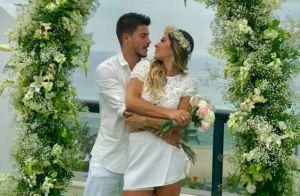 Mayra Cardi mostra vídeo de casamento com ator Arthur Aguiar: 'Me faz tão feliz'