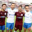 Antes, Neymar jogou uma partida de futebol beneficente com Caio castro