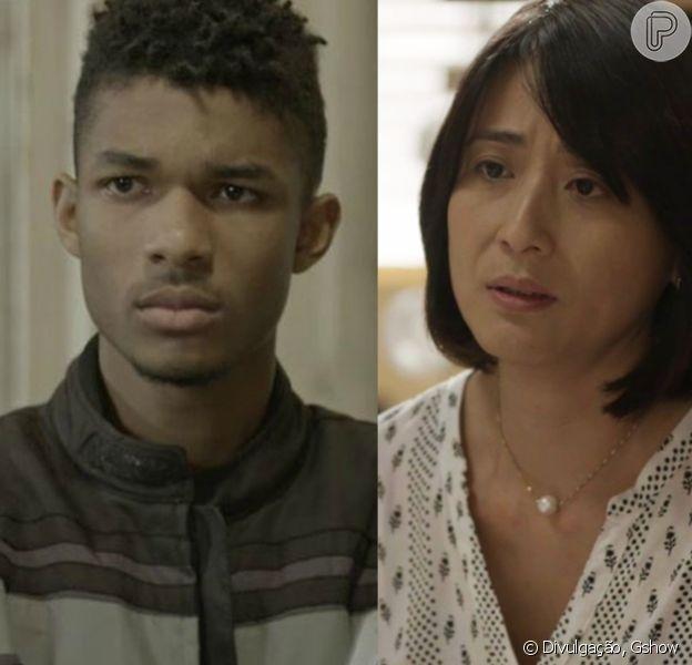 Mitsuko (Lina Agifu) oferecerá a Anderson (Juan Paiva) uma grande quantia de dinheiro para que ele se afaste de Tina (Ana Hikari), em cena que vai ao ar a partir do dia 8 de janeiro de 2018, em 'Malhação - Viva a Diferença'
