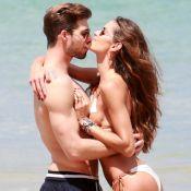 Izabel Goulart em Noronha: modelo curte praia e troca beijos com namorado. Fotos