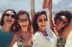 Juliana Paiva, Sheron Menezzes e Yanna Lavigne curtem viagem em Punta Cana