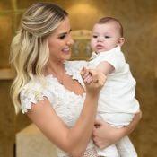 Mulher de Gusttavo Lima, Andressa Suita festeja 6 meses do filho: 'Só agradecer'