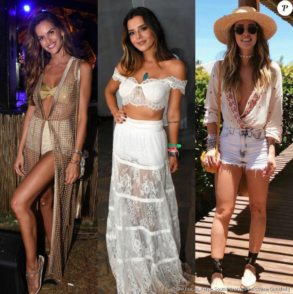 84503467a Izabel Goulart, Giovanna Lancellotti e Aline Gotschalg exibiram looks  estilosos, leves e produzidos durante