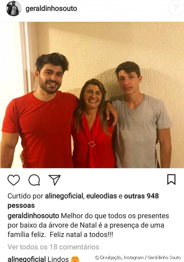 Ex-BBB Aline Gotschalg comentou a foto do empresário Geraldinho Souto