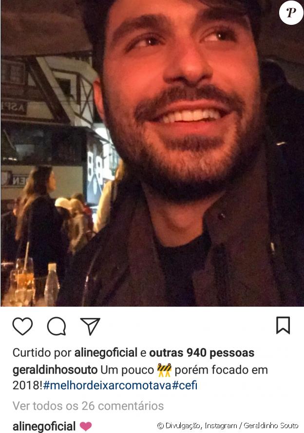 Ex-BBB Aline Gotschalg tem curtido e comentado as fotos do empresário Geraldinho Souto