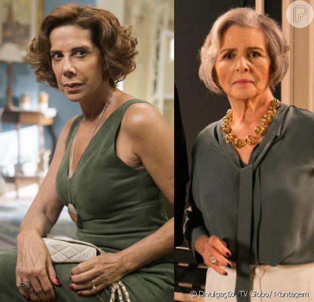 As rivais Lígia (Ângela Vieira) e Sabine (Irene Ravache) sairão no tapa, no último capítulo da novela das sete, 'Pega Pega'