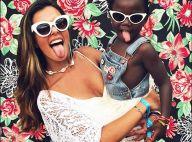 Giovanna Lancellotti combina óculos e pose com filha de Ewbank:'Princesa da tia'