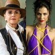 Sophia (Marieta Severo) é ameaçada por Vanessa (Fernanda Nizzato) e a mata usando uma tesoura na novela 'O Outeo Lado do Paraíso'
