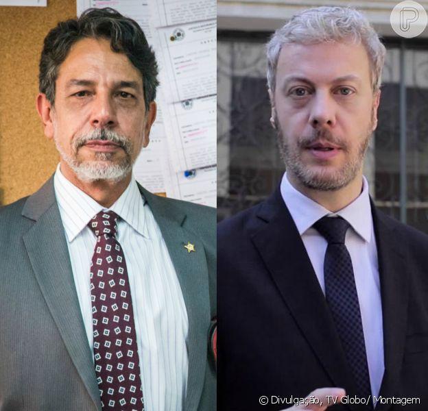No último capítulo de 'Pega Pega', o delegado Siqueira (Marcelo Escorel) e o gerente do Carioca Palace, Douglas (Guilherme Weber), assumirão um relacionamento