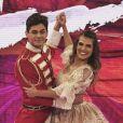 Lucas Veloso festejou um mês de namoro com Nathalia Melo em foto publicada no Instagram