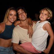 Carol Dantas deixa namorado em Noronha e o filho, Davi Lucca, reclama:'Chateado'