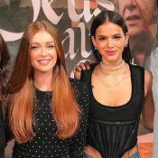 Bruna Marquezine e Marina Ruy Barbosa aparecem juntas na TV e web vibra: 'Tops'