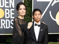 Angelina Jolie vai acompanhada do filho Pax Thien ao Globo de Ouro. Fotos!