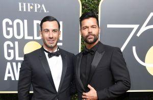 Ricky Martin tem companhia do noivo, Jwan Yosef, no Globo de Ouro. Fotos!