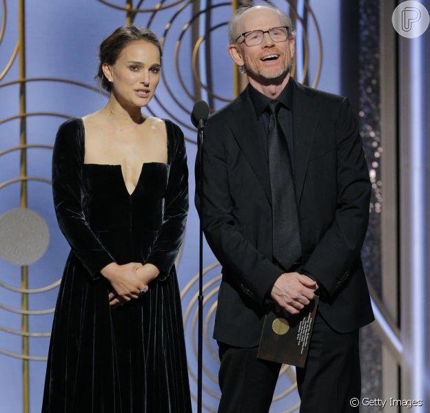 Natalie Portman ironizou a ausência de mulheres na categoria de Melhor Diretor no Globo de Ouro, realizado no domingo, 7 de janeiro de 2018