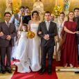 No último capítulo da novela 'Pega Pega', Antônia (Vanessa Giácomo) e Júlio (Thiago Martins) se casaram após ele cumprir uma parte da sentença pelo roubo ao Carioca Palace