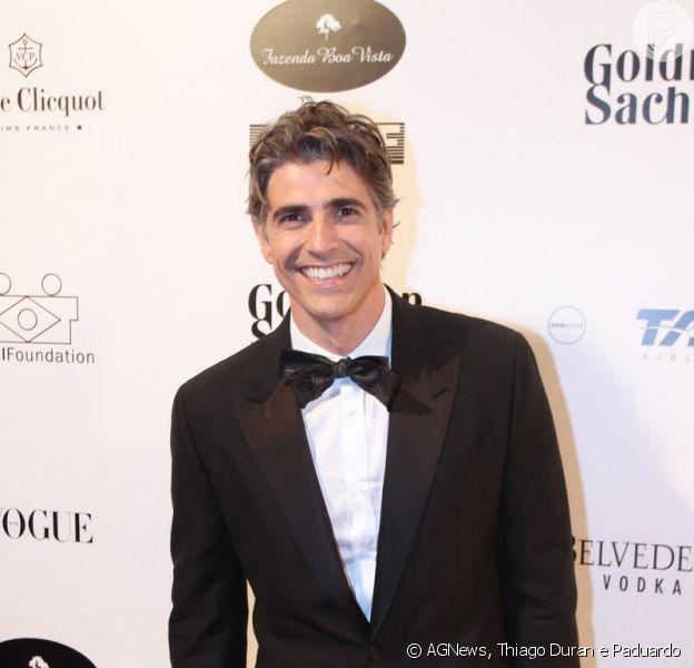 Reynaldo Gianecchini foi ao baile de gala Brazil Foundation, em São Paulo, nesta quinta-feira, 29 de maio de 2014