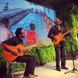 Com muita elegância, Gilberto Gil dividiu o palco com Bem Gil