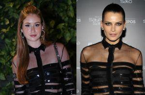 Quem vestiu melhor? Marina Ruy Barbosa repete blusa de Fernanda Motta em evento