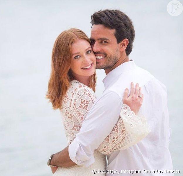 Marina Ruy Barbosa e Xande Negrão comemoram dois anos de relacionamento nesta terça-feira, 9 de janeiro de 2018: 'Difícil explicar o meu amor por você'