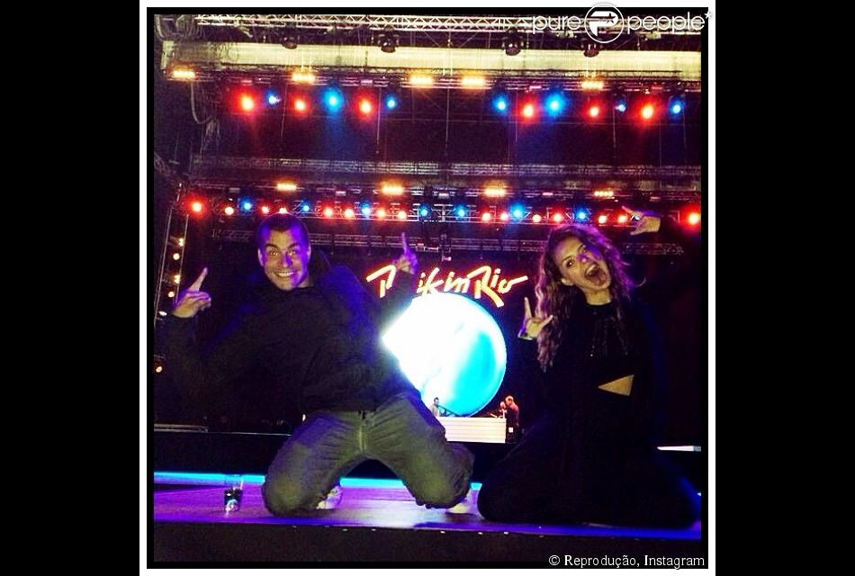 Paloma Bernardi e Thiago Martins seu último dia no Rock in Rio Lisboa, em 29 de maio de 2014