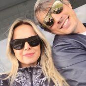 Eliana viaja aos Estados Unidos ao lado do noivo, Adriano Ricco, e dos filhos