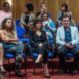 Bianca Bin se emocionou ao assistir as gravações da cena do julgamento de Duda/Elizabeth (Gloria Pires), na novela 'O Outro Lado do Paraíso'