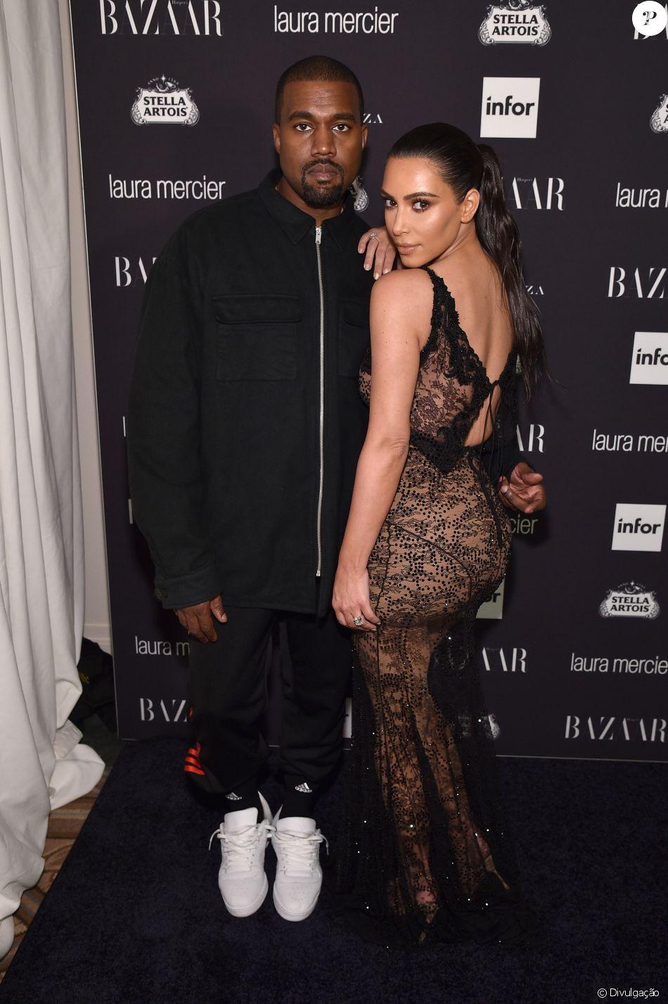 aec842b1ddd87d Kim Kardashian homenageia marido, Kanye West, com nome da 3ª filha, como  anunciou