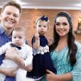 Michel Teló e Thais Fersoza também são pais de Melinda