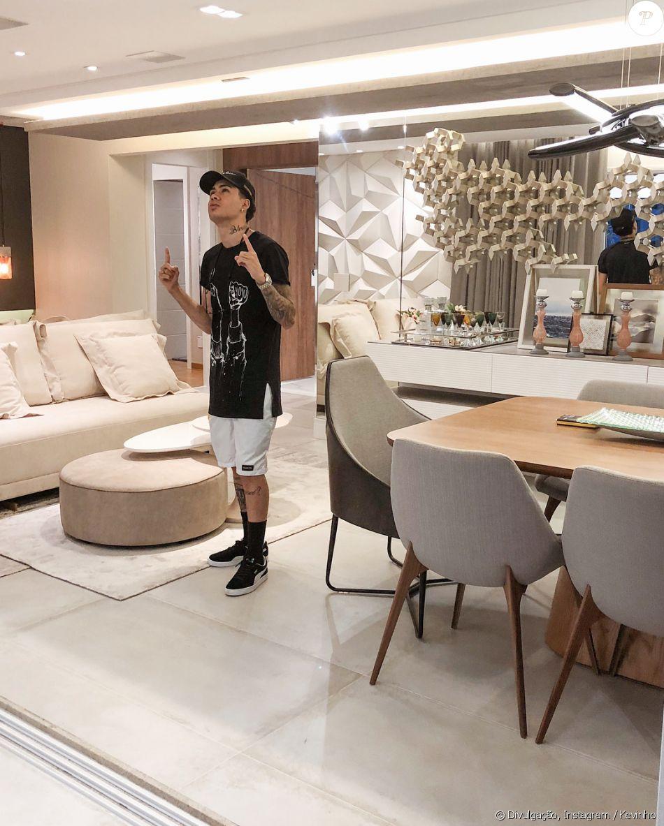 9a7943fb8 Kevinho comprou seu primeiro apartamento e exibiu o imóvel luxuoso em seu  Instagram neste domingo,